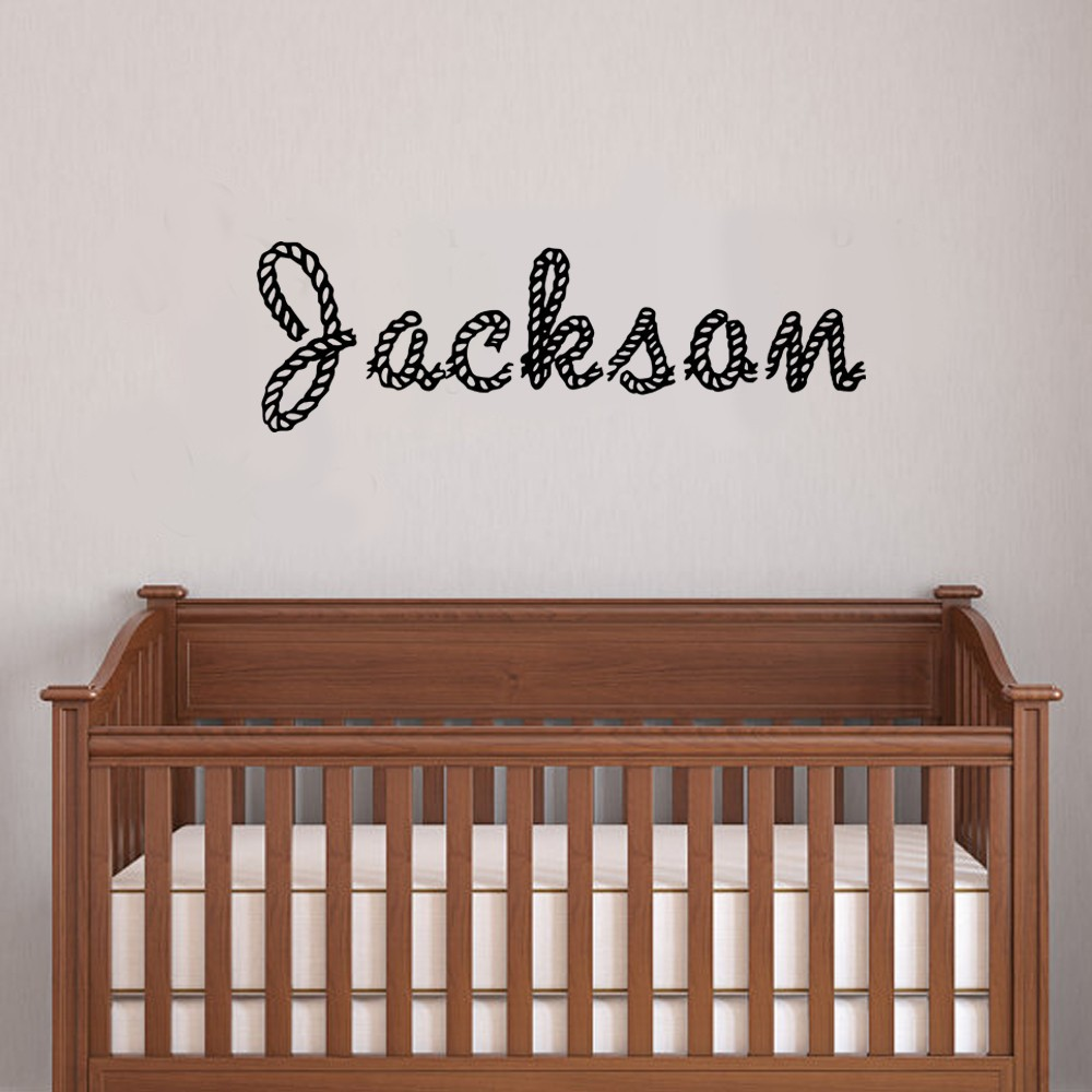 Monogram Letters For Wall Personalized Rope Letters Children Wall Decals Monogram Kids Name