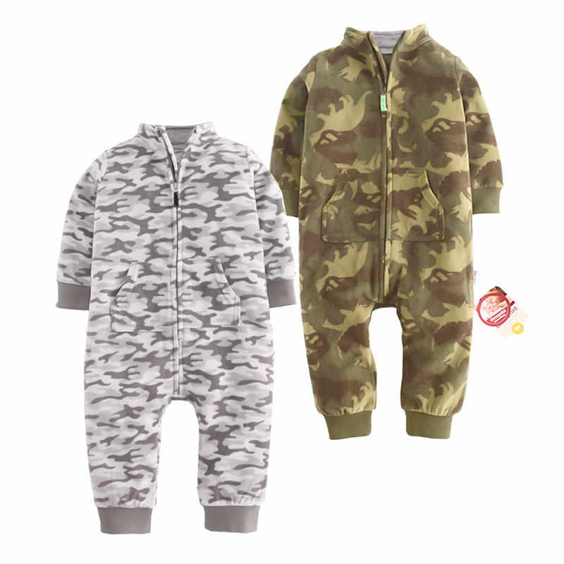 631e86c413 2018 Baby clothes toddler bebes jumpsuit collar fleece pajamas baby infants  girls clothes toddler boys clothes