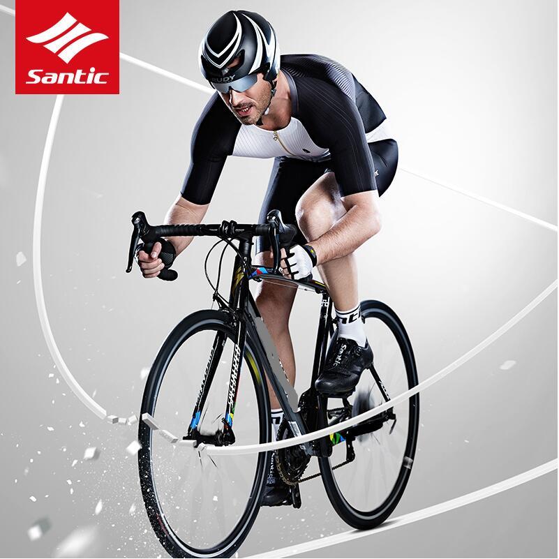 Santic hommes Triathlon Pro course costume 2019 maillots de cyclisme ensembles Fit A-BLEES élastique sec Cool italien tissu cyclisme vêtements