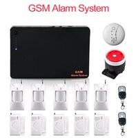 Miễn phí Vận Chuyển 315/433 MHz Auto Dialer Wireless Hệ Thống Báo Động GSM IOS Android APP Home an ninh với cảm biến PIR