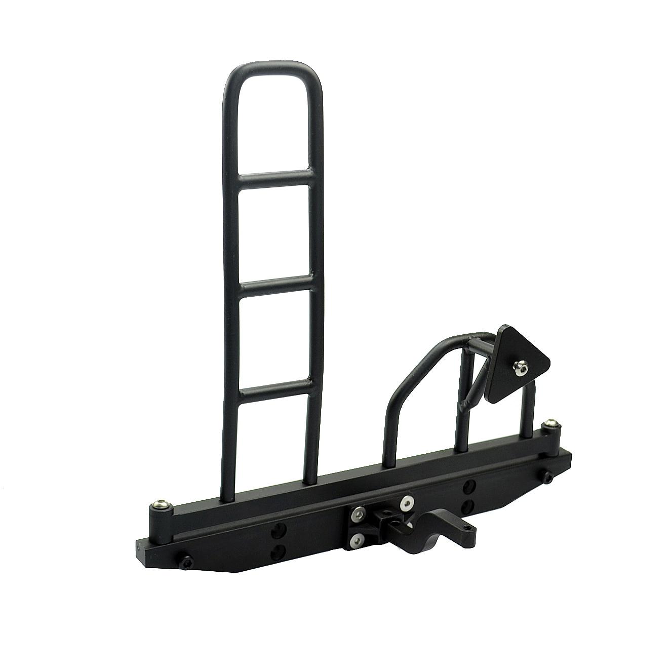 1:10 Rc Crawler Aluminium Alloy Bakre Bumper Hintere Sto & Szlig; Stange W / Reservdäcksställ & Ladder För D90