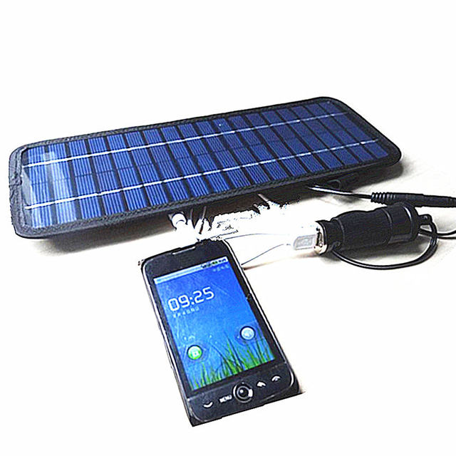 4 5w 12v Smart Power Solar Panel Battery Car Charger