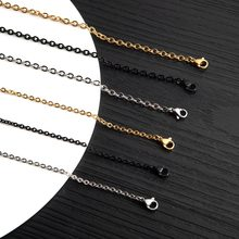 Fashion Stainless Steel White&Golden&Black Color Multiple Sizes O-shape Pendant Chain For Men Women XL001(China)