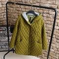 Женщины Тонкий Парки Повседневная Плюс Размер 3XL 4XL Свободные Длинные Стиль Куртка С Капюшоном Пальто Верхняя Одежда KK2209