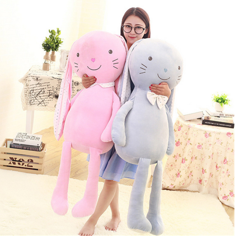 Fancytrader Super Soft Long Ears Sleeping Bunny Plush Toys Big Cute Rabbit Pillow Doll for Christmas Valentines Day Gifts cd проигрыватель other ems ru bluetooth mic bluetooth mushroom speaker