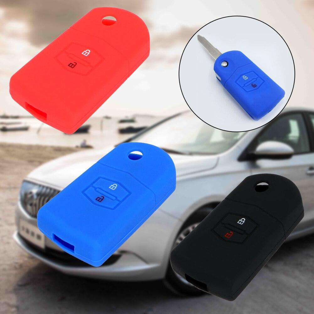 Car Key Case Cover 2 Buttons For Mazda 3 2 6 2003 2004 2005 2006 2007 2008 2009 2010 2011 2012 2013 Key Holder Key Bag Protector