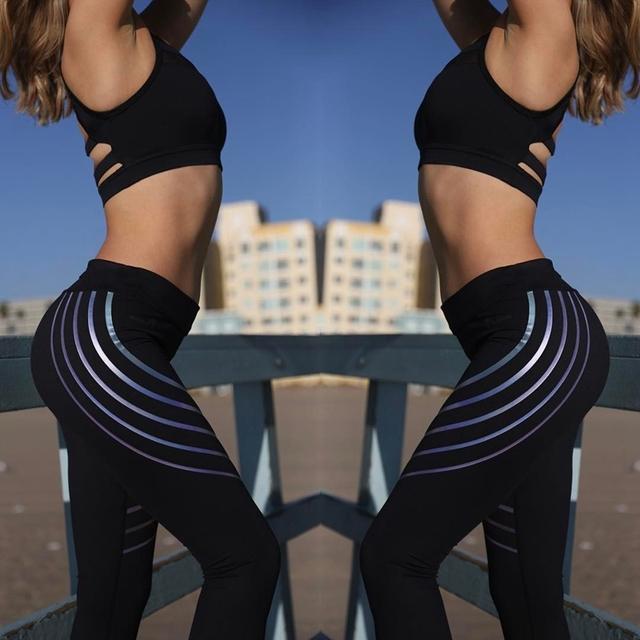 Women Slim High Waist Elastic Leggings