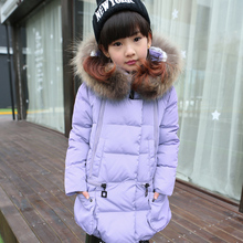 2016 Fashion Girl Winter down Jackets Coats warm baby girl 80% thick duck Down Kids jacket Children Outerwears for cold winter