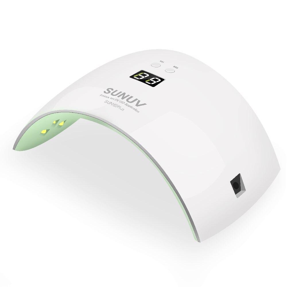 Sunuv UV <font><b>LED</b></font> ногтей барабан 36 Вт светодиодные лампы отверждения ногтей Гель-лак с ЖК-дисплей кнопка таймера Сенсор Маникюр авто Инструменты
