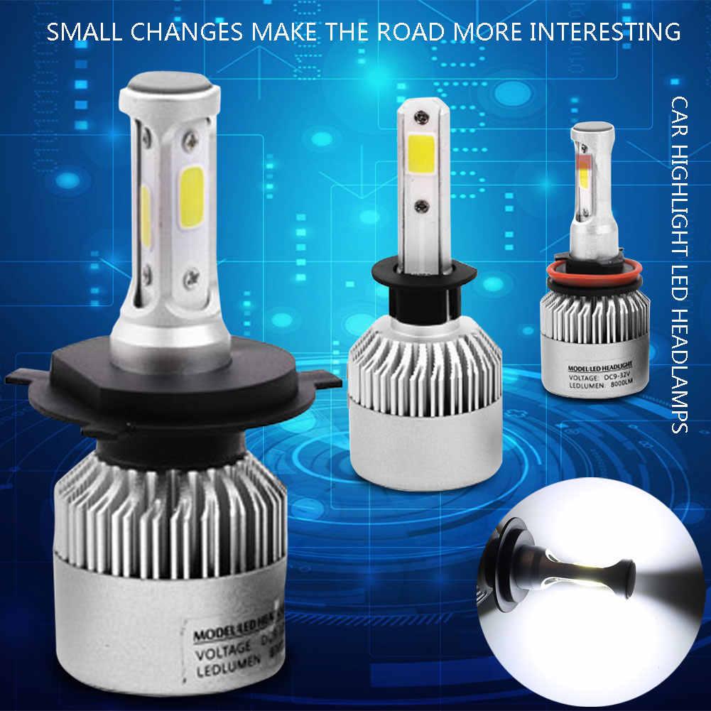 2pcs 8000LM 72W Car Headlight LED Bulb COB H1 H3 H4 H7 H8 H11 9005 9006 Car light Bulb 6500K Fog Light Headlamp Lamp Bulb 9-32V