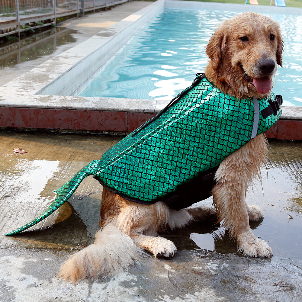 Cute mermaid dog costume 3
