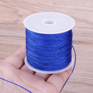 Image 5 - 0.8mm 45M/Roll Nylon Cord Thread Chinese Knot Macrame Rattail Bracelet Braided String #255733