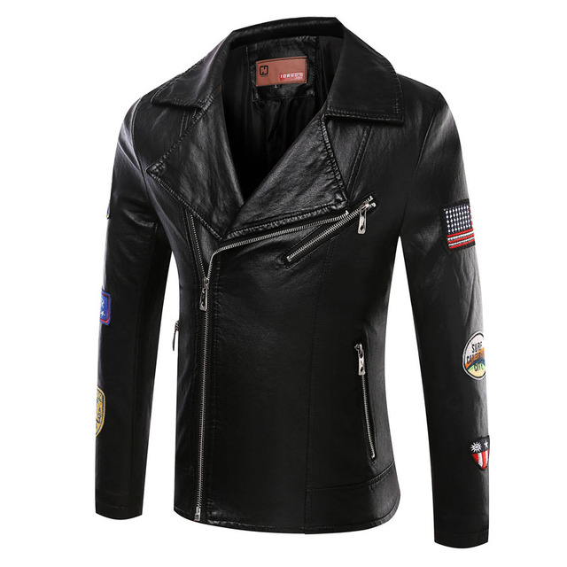 men's leather jacket  brand motorcycle leather jackets men  jaqueta de couro masculina,men PU leather coats winter