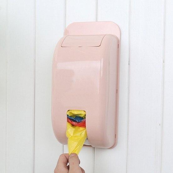 Garbage Bags Storage Box Home Kitchen Plastic Wall Hanging Debris Organizer Box