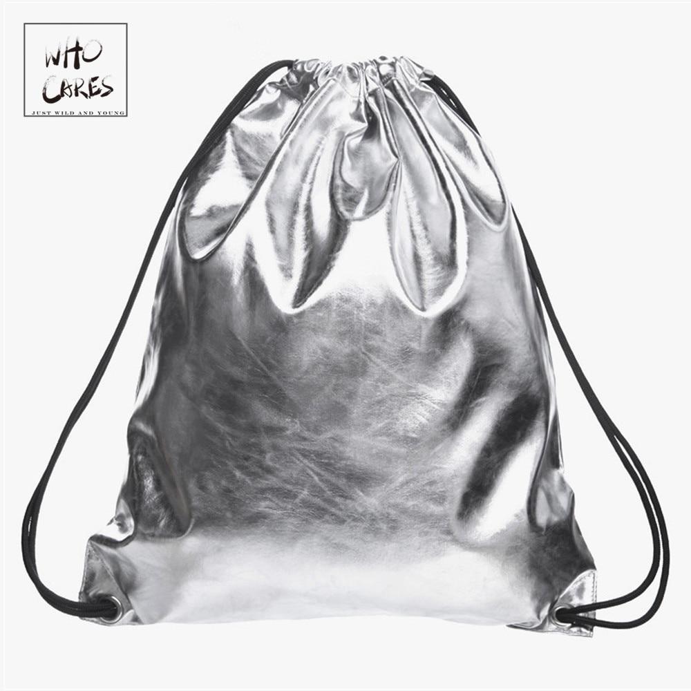 Perak PU pepejal PU wanita mochilas mujer 2018 Ransel kulit baru mochila masculina beg sekolah beg sekolah untuk remaja