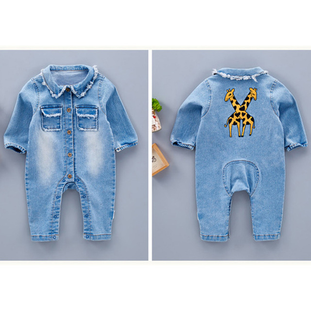 2019 Infant Clothes Unisex Baby Clothing Cute Cartoon Giraffe Rainbow Baby Long Sleeve Baby Suit Fashion Children Clothes