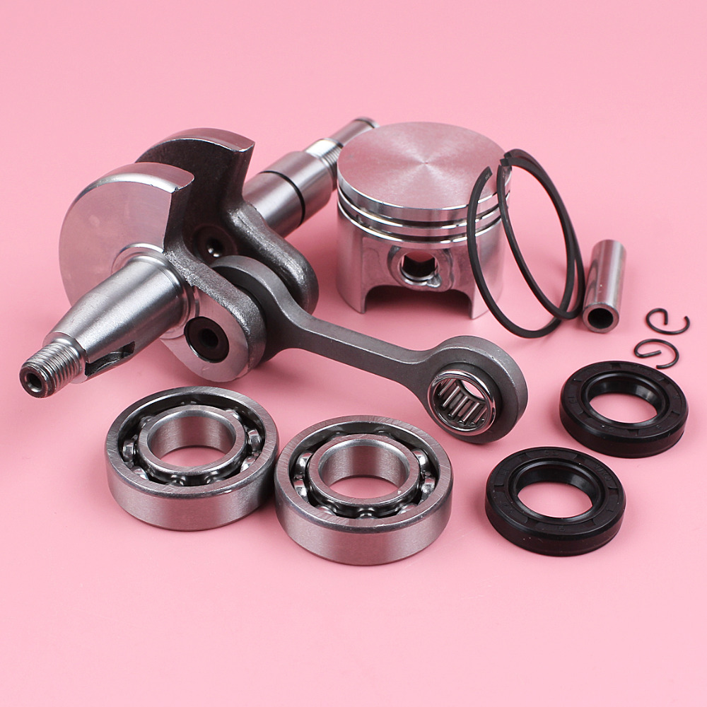 Crankshaft 37mm Piston 8mm Pin Ring Circlip Crank Bearing Oil Seal Kit For Stihl MS170 017 MS 170 Chainsaw Part