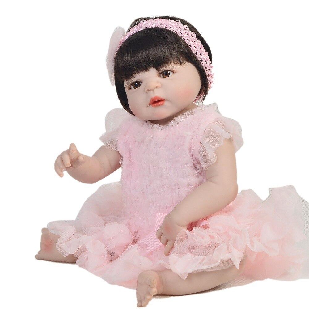 Bebes Reborn doll 57CM Full Body silicone doll Girl Reborn Baby Doll toys gift Lifelike Newborn Princess victoria Bonecas MeninaBebes Reborn doll 57CM Full Body silicone doll Girl Reborn Baby Doll toys gift Lifelike Newborn Princess victoria Bonecas Menina