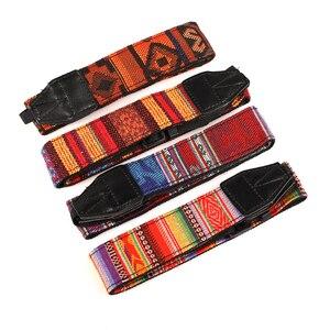 Image 2 - Kaliou Style ethnique appareil Photo sangle colorée coton Yard motif sangle de cou DSLR bandoulière bandoulière pour Canon Nikon Sony stylo