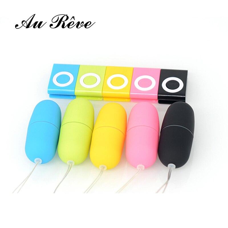 Mute Wireless Body Massager Vibrator Waterproof Vibrating Eggs MP3 Remote Control Vibrator Sex Toy For Women