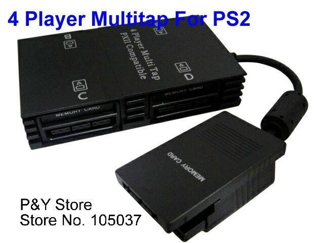 hot sell+free shipping+New 4 Player Multitap For Sony PlayStation 2 PS2 Slim-in Gamepads from ...