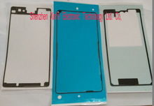 Wholesale 10X Full Set 3pcs/Set For SONY Xperia Z1 mini M51W Waterproof front /Middle frame/back Adhesive Tape Sticker