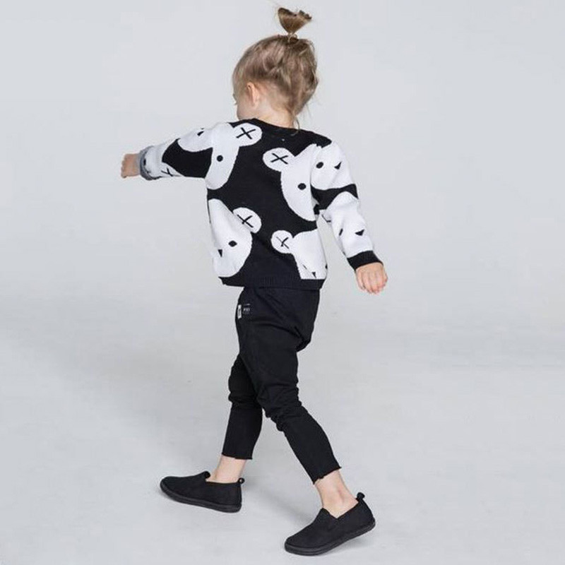 Baby Girls Sweater Winter Cartoon Children Sweaters Christmas Pullover Long Sleeve Baby boy Girl Knitwear Kids Knit Clothes sundae angel baby girl sweater kids boy turtleneck sweaters solid winter autumn pullover long sleeve baby girl sweater clothes