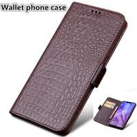 Genuine leather wallet case card slot phone bag for Huawei P Smart Z Huawei Y9 Prime 2019 flip wallet phone case standing funda