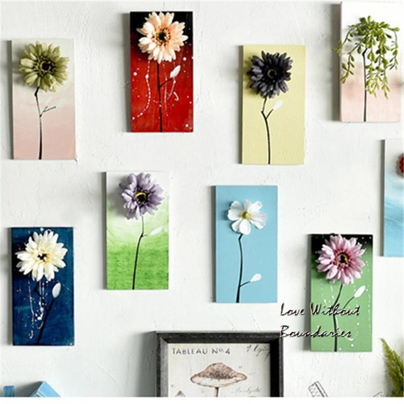 Pintados à mão parede criativa Flores decorativas fundo quarto - Para feriados e festas