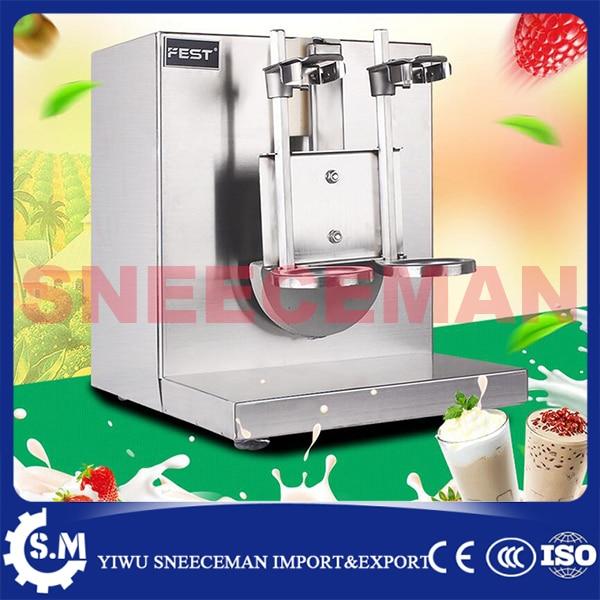 Дважды кадров Чай молоко машина автоматическая пузырь Чай качая шейкер машина мягкого мороженого смеситель Скорость молочный коктейль маш