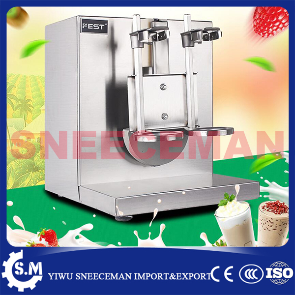 Double-frame Tea Milk Making Machine Automatic Bubble Tea shaking Shaker machine Soft Ice Cream Mixer Speed Milkshake Machine