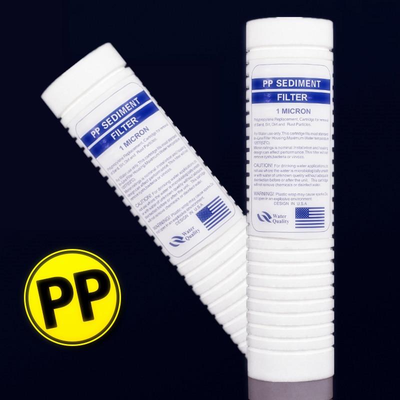 ПП хлопка фильтр 1 микрон очиститель воды pp осадков фильтра 10 дюймов PPF фильтр Системы обратного осмоса 2 шт
