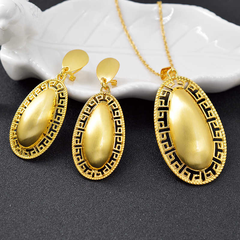 ZEA Dear Jewelry Big Jewelry Sets For Women Earrings Pendant Necklace Egg Shape Jewelry For Engagement Classic Jewelry Findings