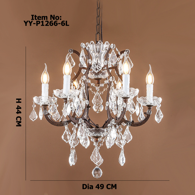 Retro Antique Crystal Drops Chandeliers Large French American Empire Style Chandelier Restoration Hardware Lighting