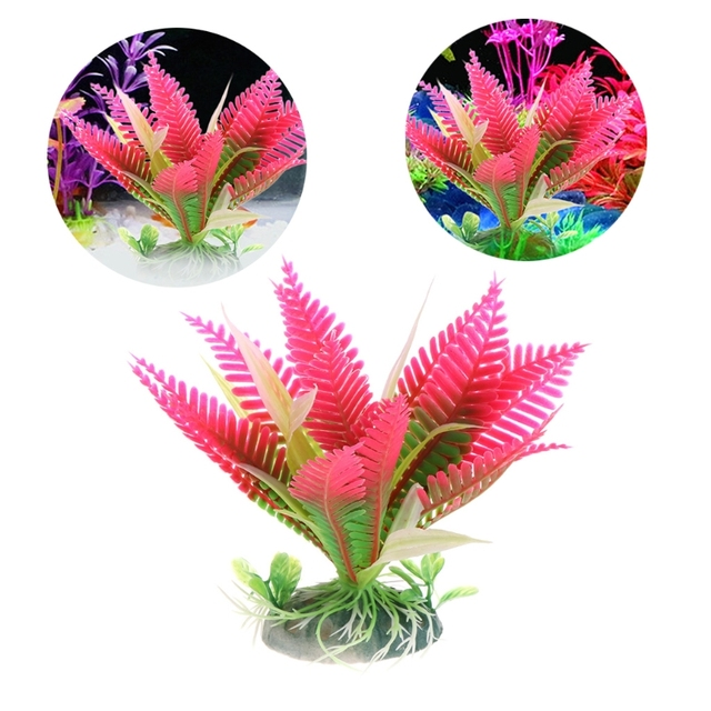 1pc christmas flower water plant grass for aquarium fish tank landscape decoration