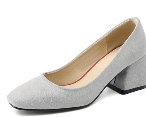 noir Laides Femme Confortable gris Chaussures Chunky Pompes Printemps Beige Hauts Mariage Talons De Automne Femmes WOBfxpqnO
