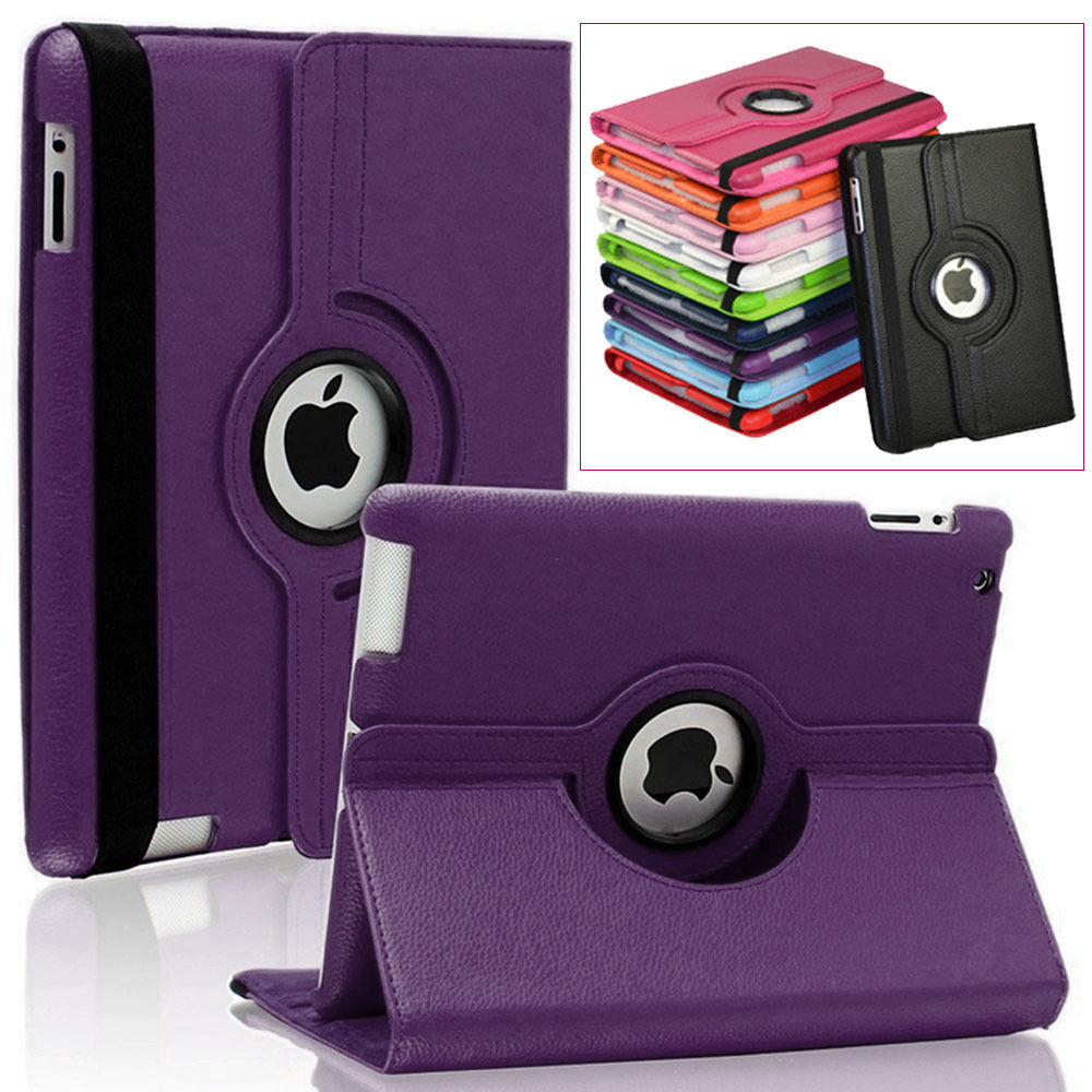 For Apple iPad mini 1 mini 2 mini 3 protective cases 360 Rotating Stand Flip  PU Leather Case Cover Accessories S2A14D lychee texture pu leather magnetic flip pouch protective case for ipad mini 2 3 white