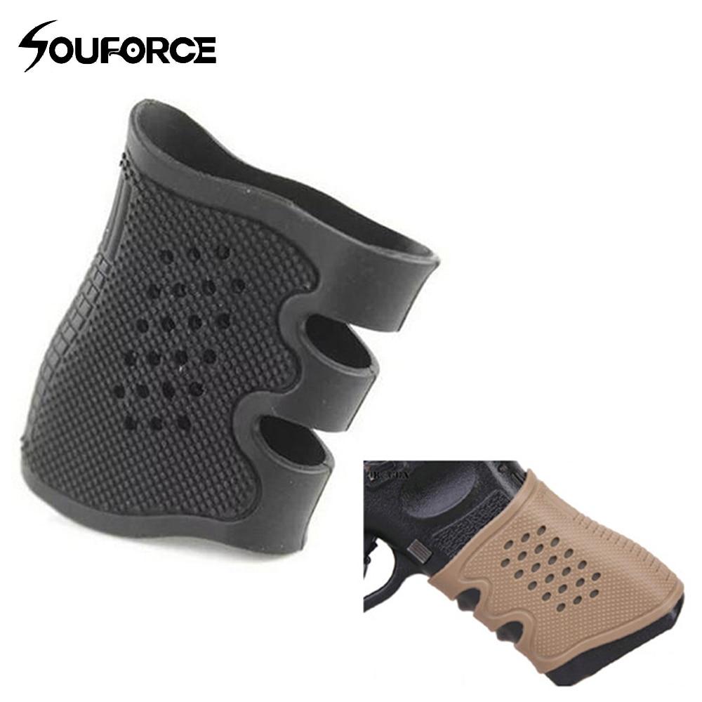 Glock 시리즈 USP T12 CZ75 및 대부분의 권총 사냥 총 액세서리 용 2 색 고무 권총 미끄럼 방지 그립 커버