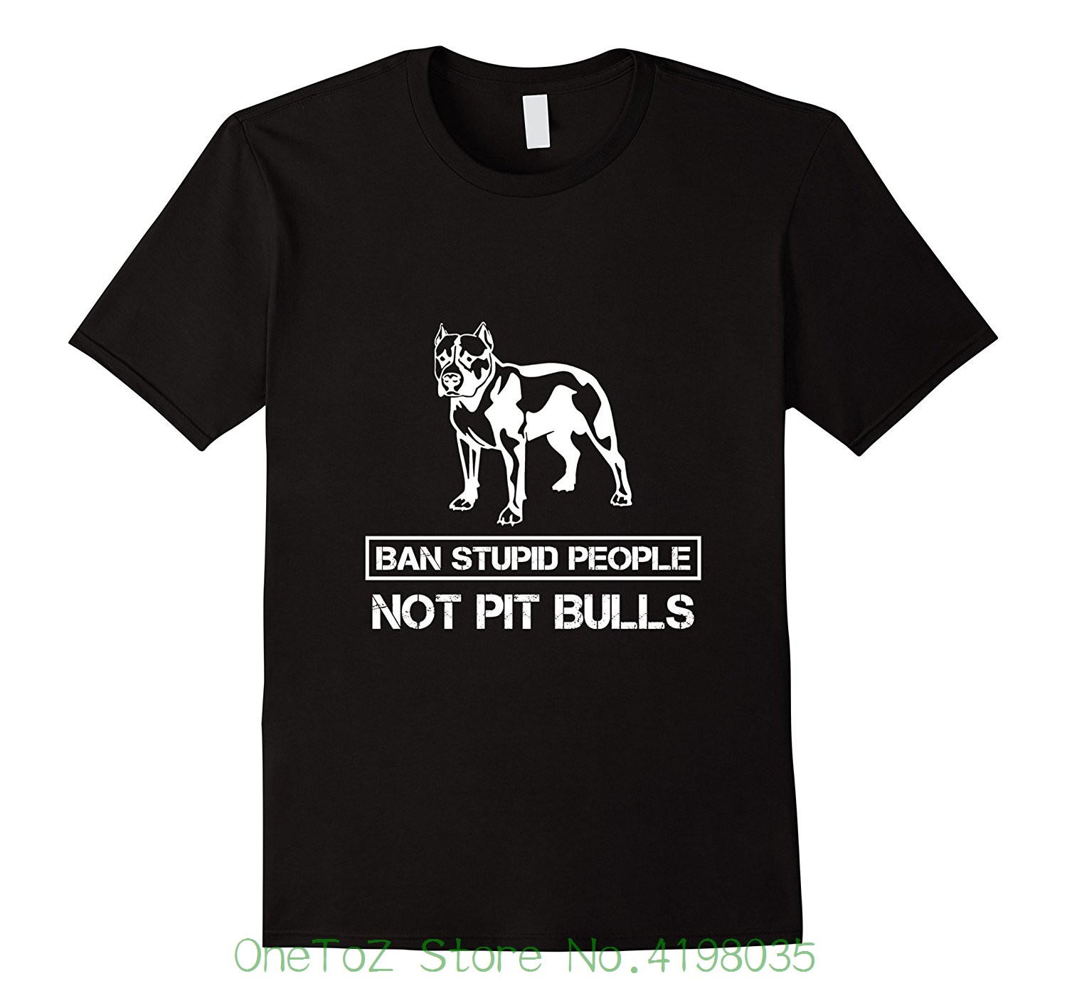 Pitbull T-shirt - Ban Stupid People Not Pit Bulls Summer Short Sleeve Shirts Tops S~3xl  ...