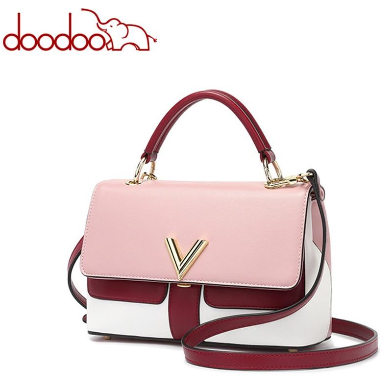 DOODOO High Quality Hit Color Small Handbags 2017 Fashion Tide Shoulder Messenger Bags Large Capacity Mini Hand Mobile Phone Bag