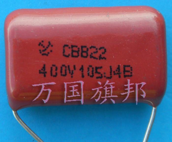 Free Delivery. CBB22 metallized polypropylene film capacitor 400 v 105 1 uf