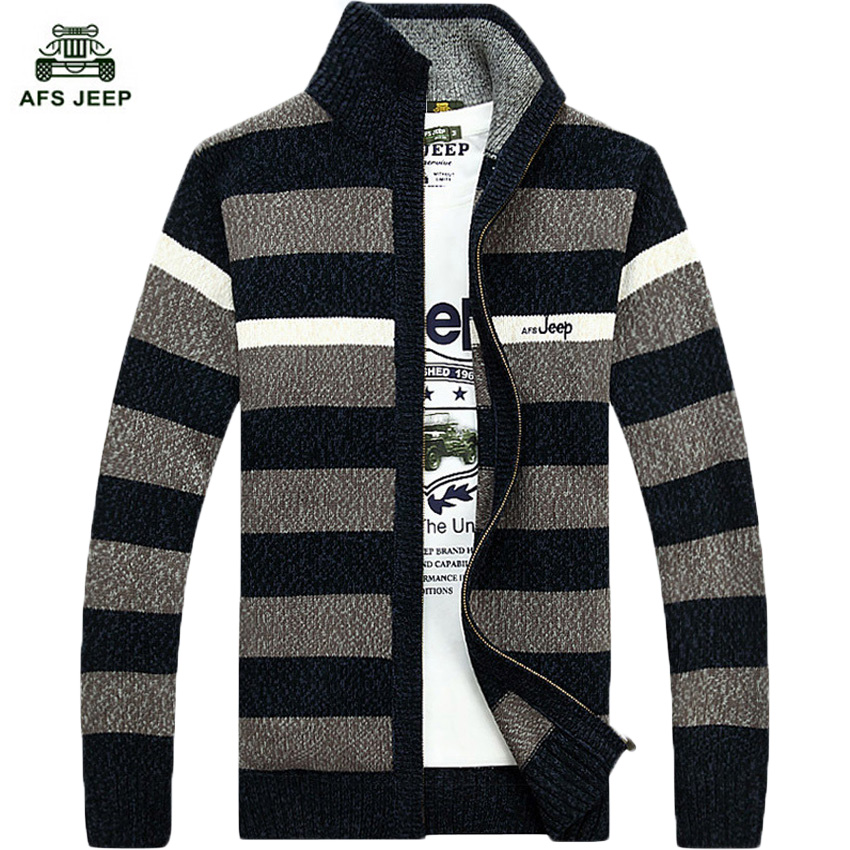 free shipping striped sweater for men dress 2017 quality cardigans plus size M -3XL 75