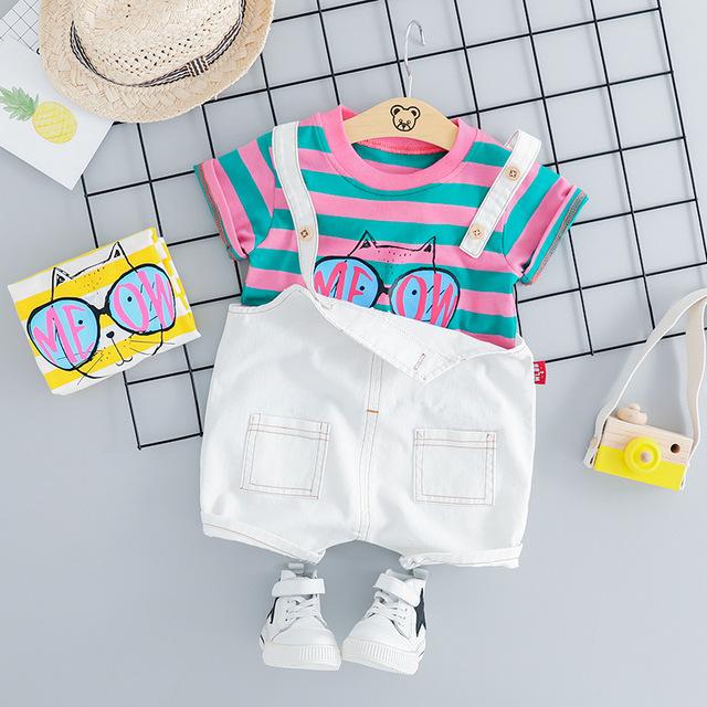 Roupa Baby Girl Summer Set