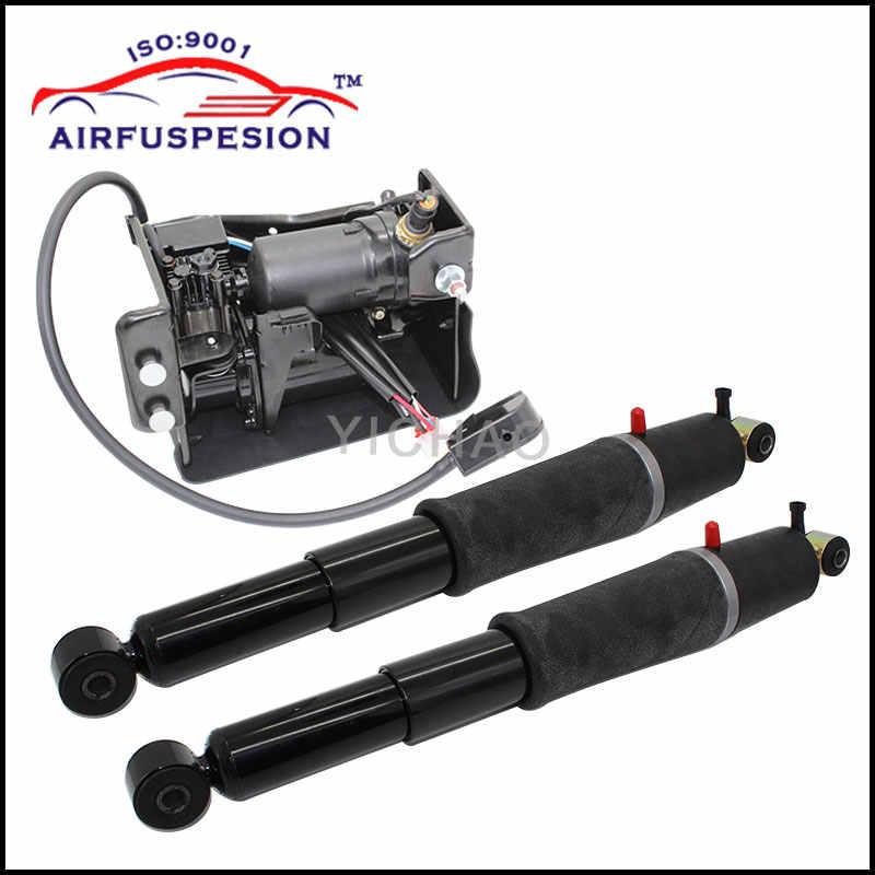 For Chevrolet Avalanche Suburban Cadillac Escalade Tahoe GMC Yukon Pair  Rear Air Suspension shock Compressor Pump 949-000 AS2708