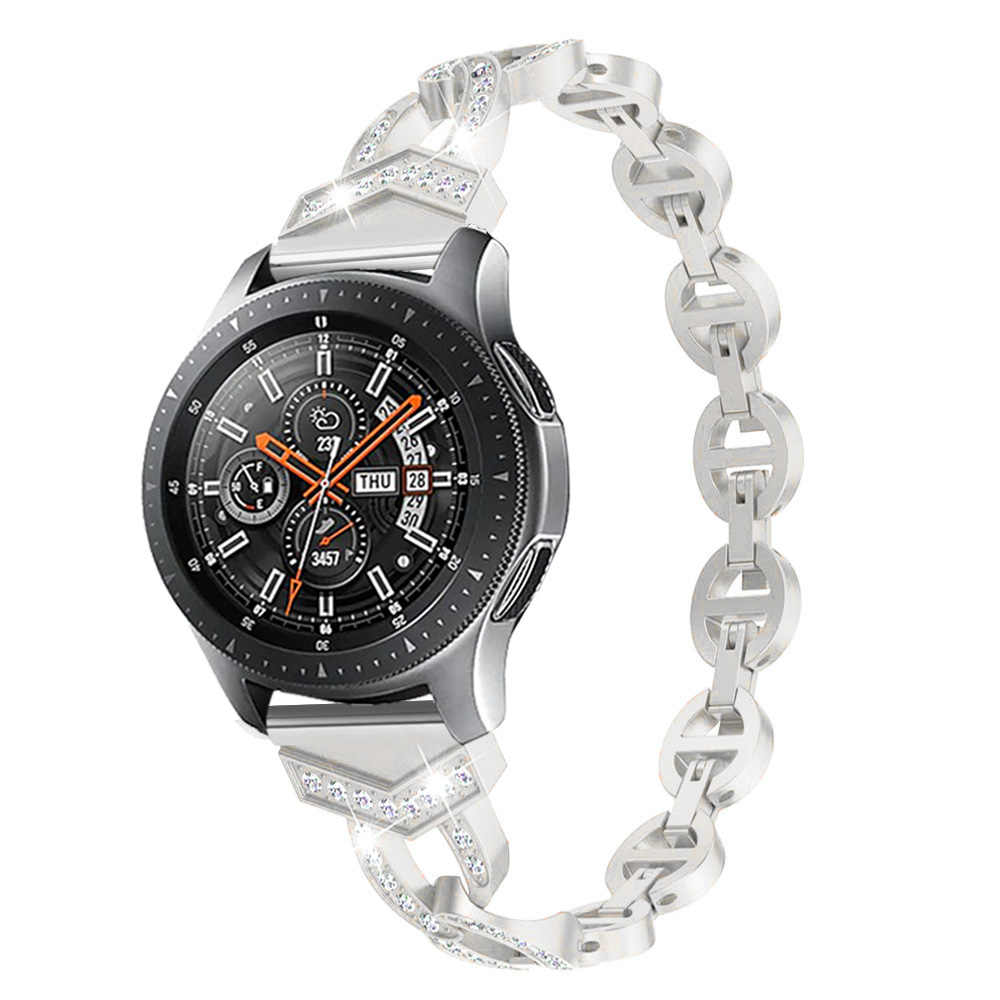 Donne Braccialetto di Diamanti per Samsung Galaxy Orologio 46/42 millimetri/Attivo 2 1 Fascia per Samsung Gear S3 cinturino A Sgancio rapido Cinghia Da Polso In Metallo