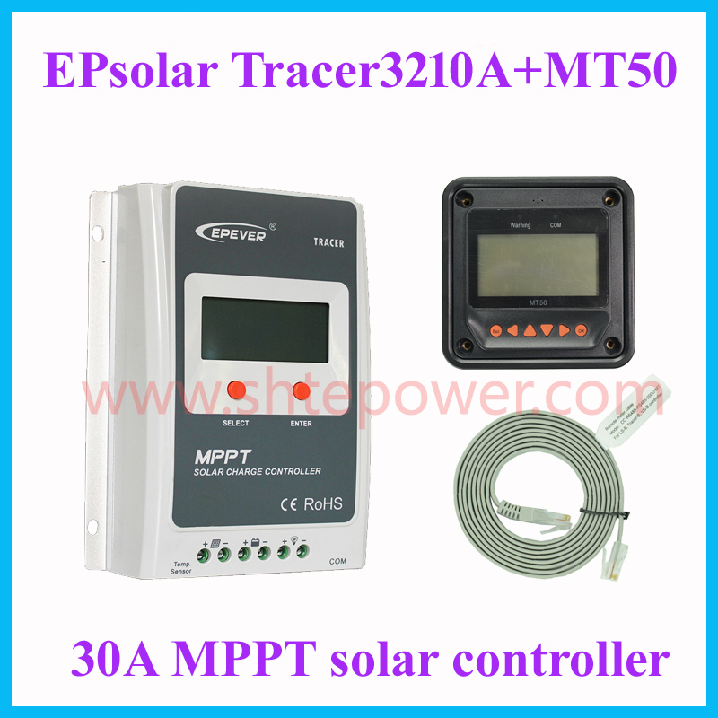 EPsolar EPEVER solar 30a charge controller MPPT solar regulator 12v 24v auto work max pv 100v with MT50 remote meter Tracer3210A 30a mppt solar charge controller regulator tracer7810bp high efficiecny 12v 24v auto work with pc usb communication cable