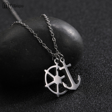 My Shape Anchor Pendant Chains Necklaces Women Stainless Steel  Silver Gold Chain for Summer Beach Gift