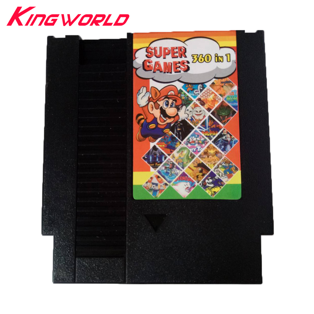 High quality 360 in 1 Game Card for NES 72pins 8 bit Game Cartridge with Free Dust Sleeve no repeated games