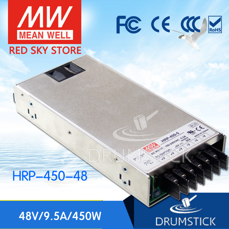 Advantages MEAN WELL original HRP-450-48 48V 9.5A meanwell HRP-450 48V 456W Single Output with PFC Function Power Supply mean well hrp 200 48 48v 4 3a meanwell hrp 200 48v 206 4w single output with pfc function power supply [hot1]