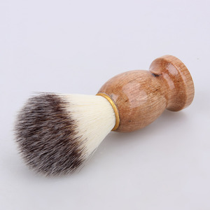 Image 5 - גירית שיער גילוח של גילוח מברשת סלון גברים פנים זקן ניקוי מכשיר גילוח סגנון כלי גילוח מברשת עם עץ ידית עבור גברים